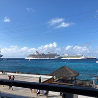 The view(busy cruise ship day)