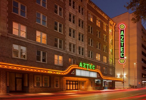 Historic Aztec Theatre Street View