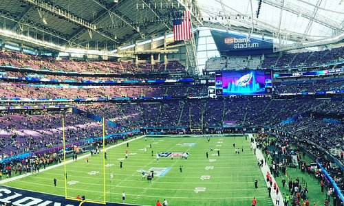 Prior to kickoff at the Super Bowl