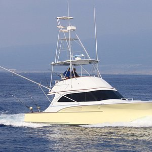 """The sweetest boat in the Kona fleet, """"Honey"""". She is our flagship. Very stable and comfortable!"""