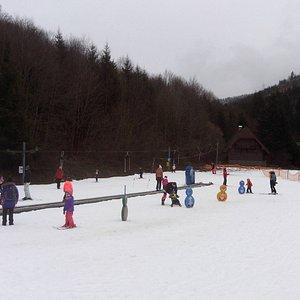 Skiing at Paseky
