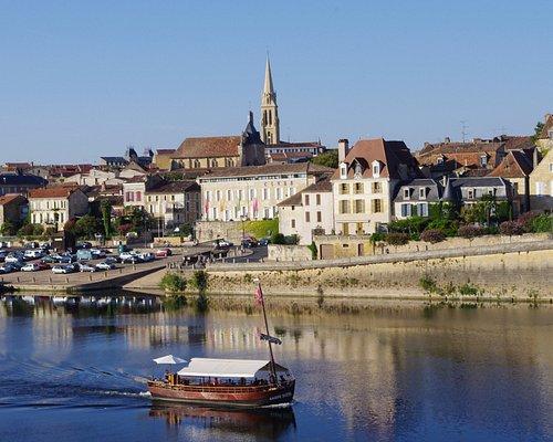 Bergerac, quai Salvette, promenade en gabarre