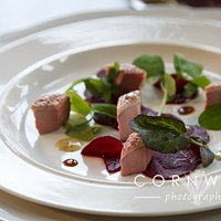 Locally Smoked Duck Breast with Home Pickled Brown Sugared Beetroot