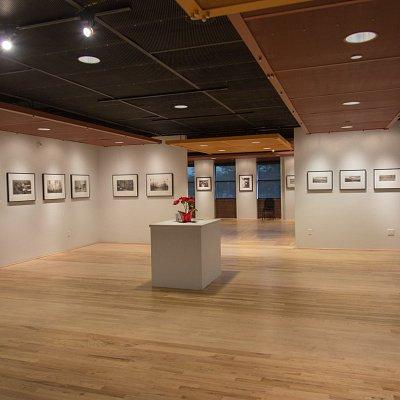 Gallery during the exhibition of platinum/palladium prints.