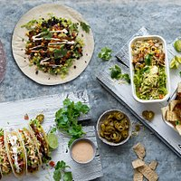 Mexican food freshly-prepared, with a focus on modern, super food ingredients.