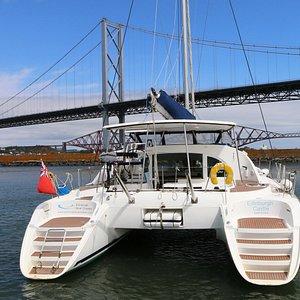 Forth Bridges and the catamaran
