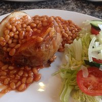 Absolutely massive jacket potato. Piping hot and yummy. Photo does not do it justice.