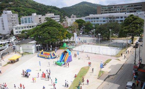 Inauguração da Praça Olímpica, após a reforma. Foto de Roberto Ferreira