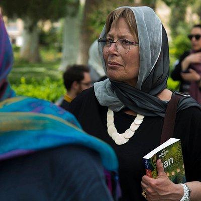 Italian tourists visiting Golestan Place in Tehran - SURFIRAN