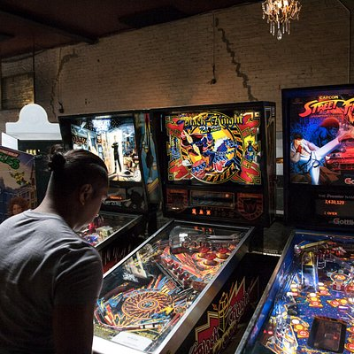 Barcade interior at our original Brooklyn location - we now have pinball!