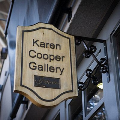 Karen Cooper Gallery Sign