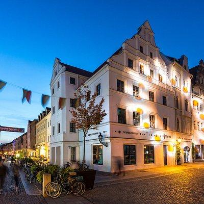 Das futurea Science Center in der Lutherstadt Wittenberg zur Lichternacht.