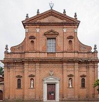 facciata dell'imponente Chiesa di S.Girolamo