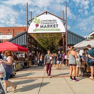Busy market Saturday