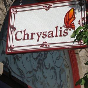 Chrysalis store sign