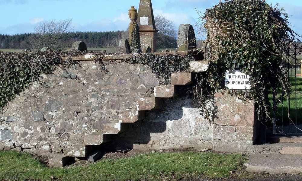 Old loupin on stane/access steps