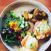 Brunch at the Yellow Pear, menu items from the first few months.