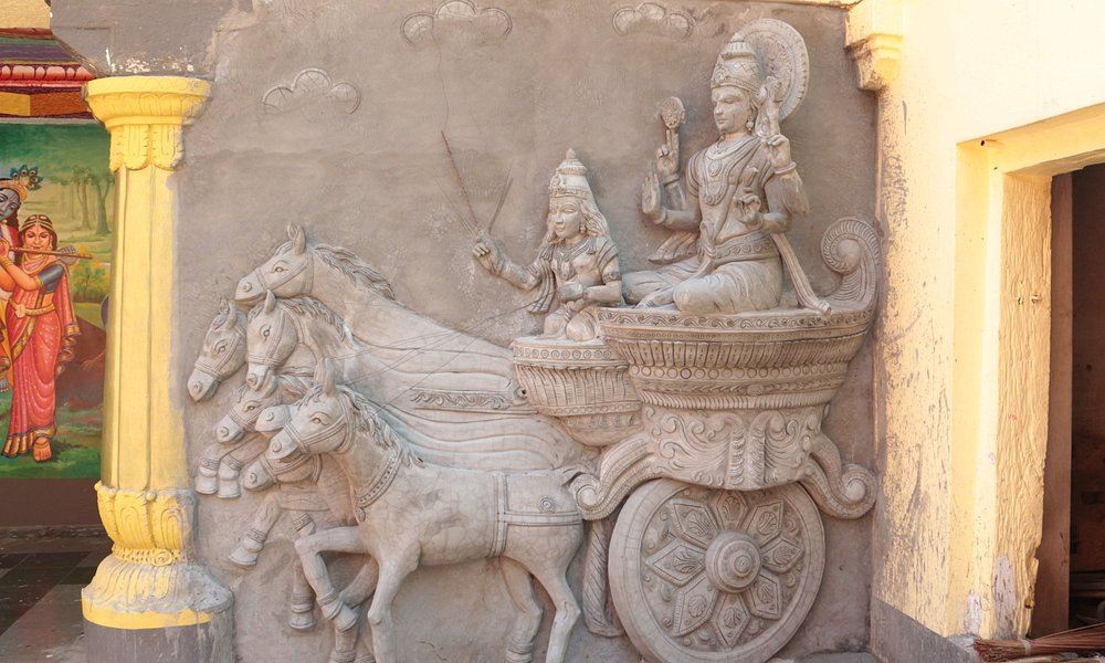 New addition on the Temple inner compound wall