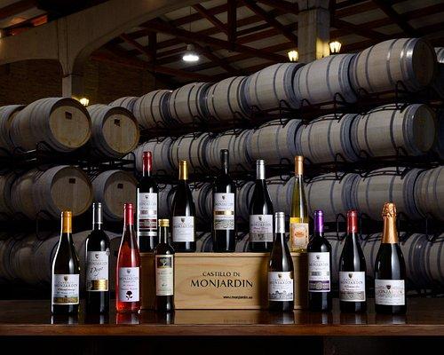 Chardonay, Cabernet Sauvignon, Merlot, Tempranillo y Garnacha
