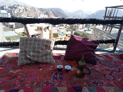 View from Bedouin Discovery House in the Bedouin village of Petra.