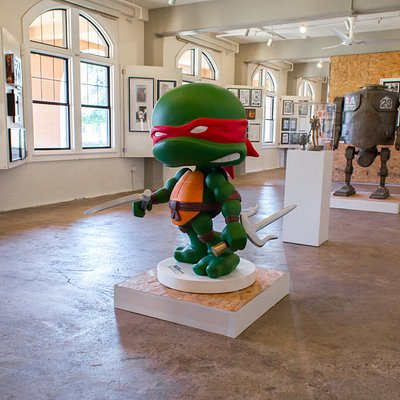 The new Gallery space features statues from IDW Publishing's private collection.