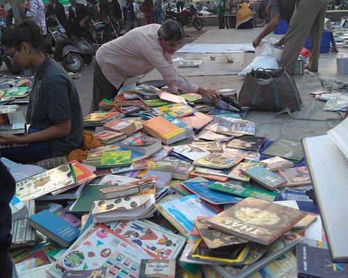 A bookshop at the Ravivari Market