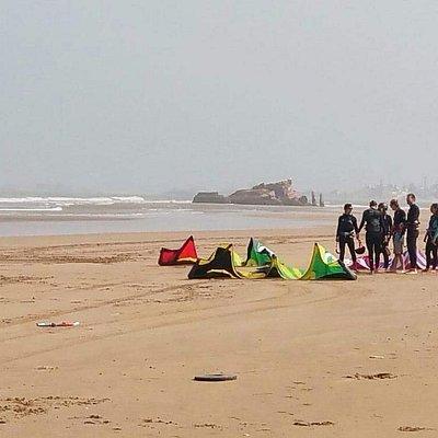 d'Essaouira plage la à kitesurf de cours