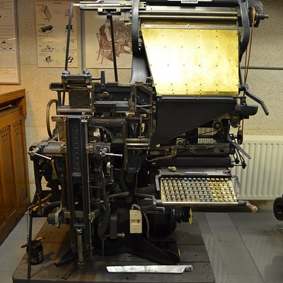 Zetmachine in Boekdruk Museum Dordrecht