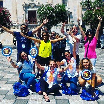 Ospiti in festa con il nostra staff a Taormina
