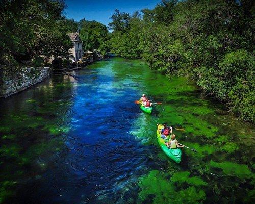 Canoe kayak vert fontaine de vaucluse