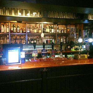 The well stocked bar offers a good selection of beers, wines and spirits.
