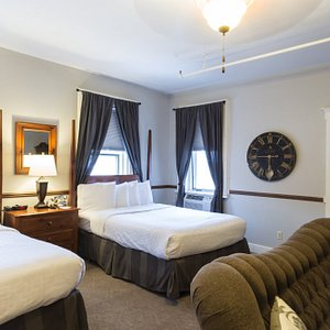 Executive Room; Two queen beds with Soaking tub and shower