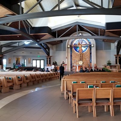 Looking towards alter. Open and airy
