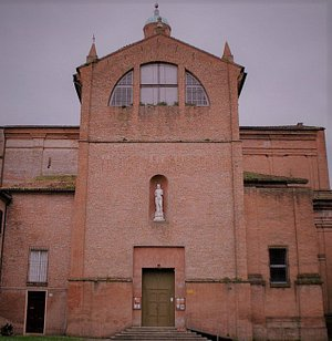 S.Giovanni Battista, vedete la sua statua. Chiesa voluta da Alessandro VI Borgia Pont Max