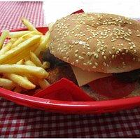 Chicken burger & Chips