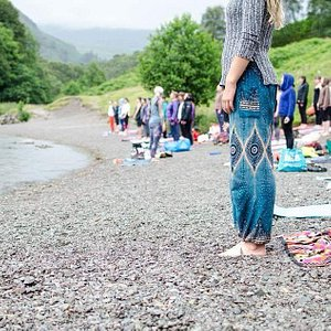 Outdoor charity yoga grasmere