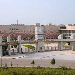 Birds Eye View of the Facade- Main Entrance Gate of the India Expo Mart, Greater Noida