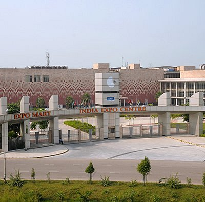 Birds Eye View of the Facade- Main Entrance Gate of the India Expo Mart, Greater Noida
