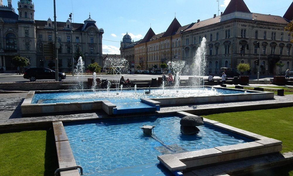 Fountain at Gyor Town Hall