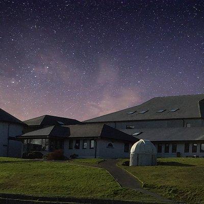 Schull planetarium at nightime