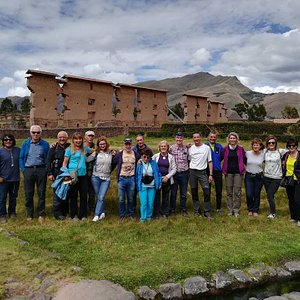 """Great Group in Raqchi """"the  Wiracocha's temple """", the creator of the Andean world"""