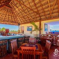 Rosa Sirena's Restaurant & Rooftop Palapa Bar, Isla Mujeres Mexico