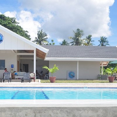 Big spacious dive shop with training swimming pool for dive courses