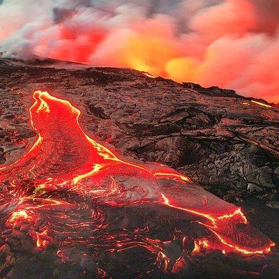love the sun on the lava
