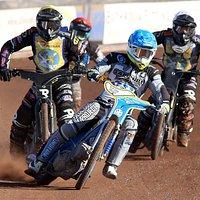 The Diamonds Swedish star Ludvig Lindgren leading Edinburgh Monarchs riders