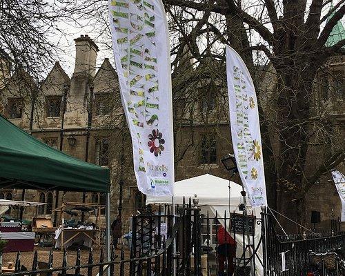 All Saints Craft Market open Saturdays in a lovely little Garden in Trinity Street Cambridge