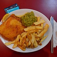 Franco's Special: Cod, chips & mushy peas. £4.95!