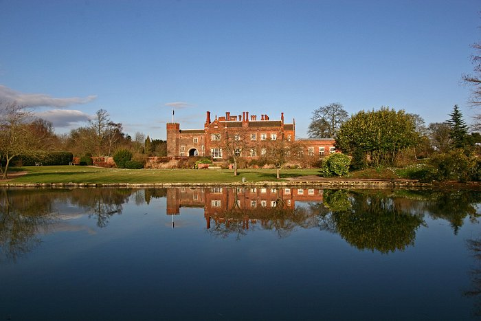 View from the small lake behind Hodsock Priory
