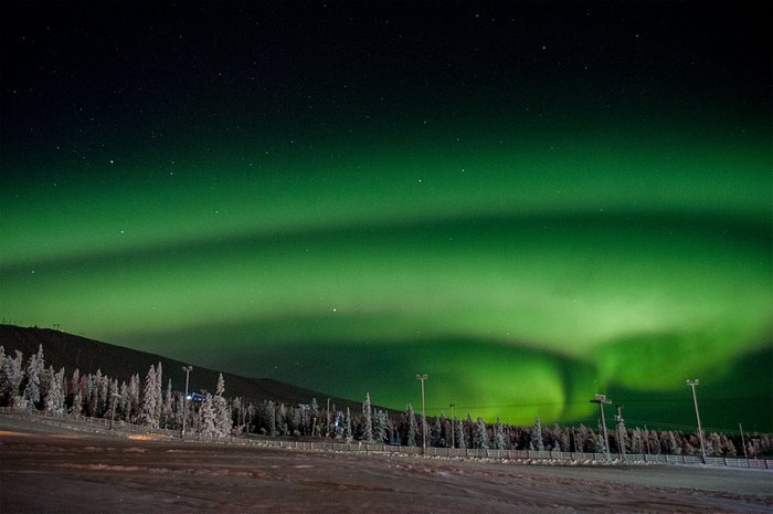 Aurora Borealis from Yllas Saaga Hotel