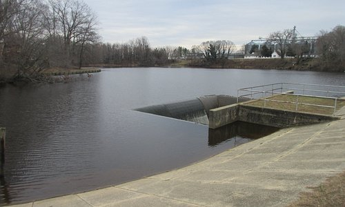 The reservoir where water is used to operate the mill